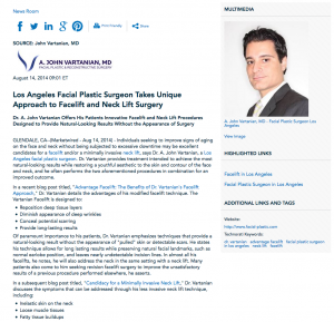 facelift, neck lift, Los Angeles facial plastic surgeon, Advantage Facelift: Benefits of Dr. Vartanian's Facelift Approach